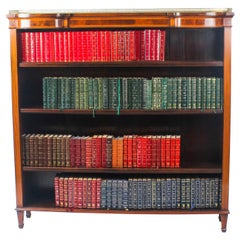 Early 20th Century Edwardian Inlaid Satinwood Open Library Bookcase