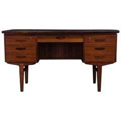 Midcentury Rosewood Writing Desk Danish Design