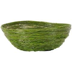 Gaetano Pesce Green Resin Spaghetti Bowl for Fish Design, 2009