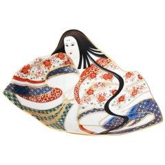 Contemporary Japanese Imari Gilded Porcelain Dish