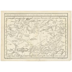 Antique Map of Tartary and Northeast Asia by Bellin, circa 1750