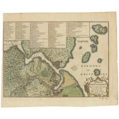 Antique Map of Constantinople 'Istanbul' by J. Lodge, 1770