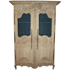 Mid-19th Century French Painted Armoire