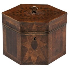 Antique Tinware Tea Caddy 19th Century
