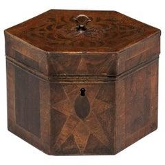 Antique Tinware Tea Caddy 19th Century