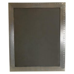 English Sterling Silver Engine Turned Photograph Frame