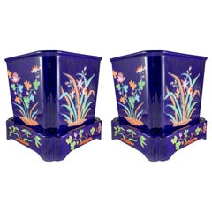 19th Century Pair of Minton Jardinieres on Stands