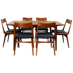 "Vintage Alfred Christensen ""Boomerang"" Teak Dining Set"