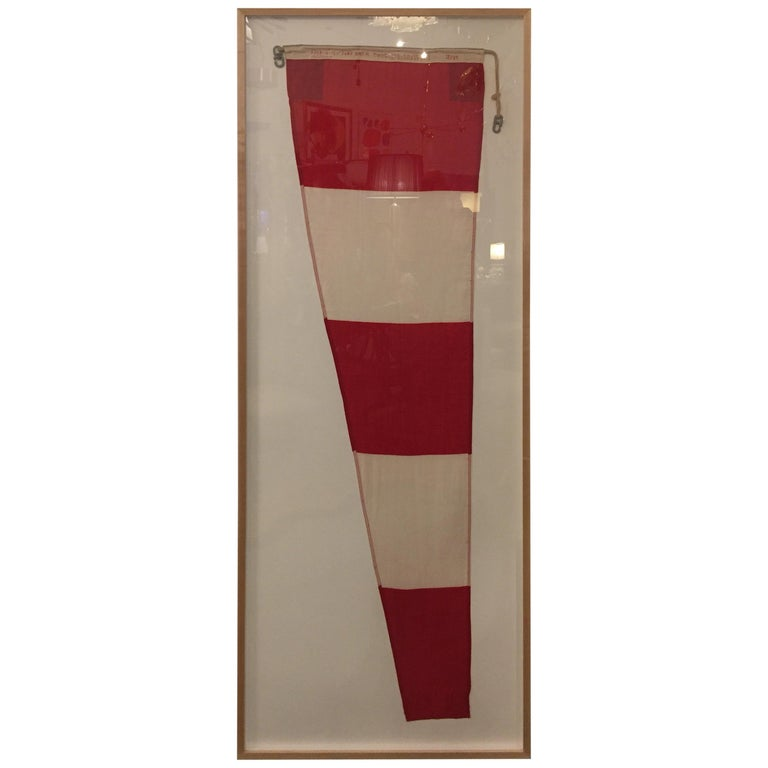 Professionally Framed WW II Nautical Signal Flag