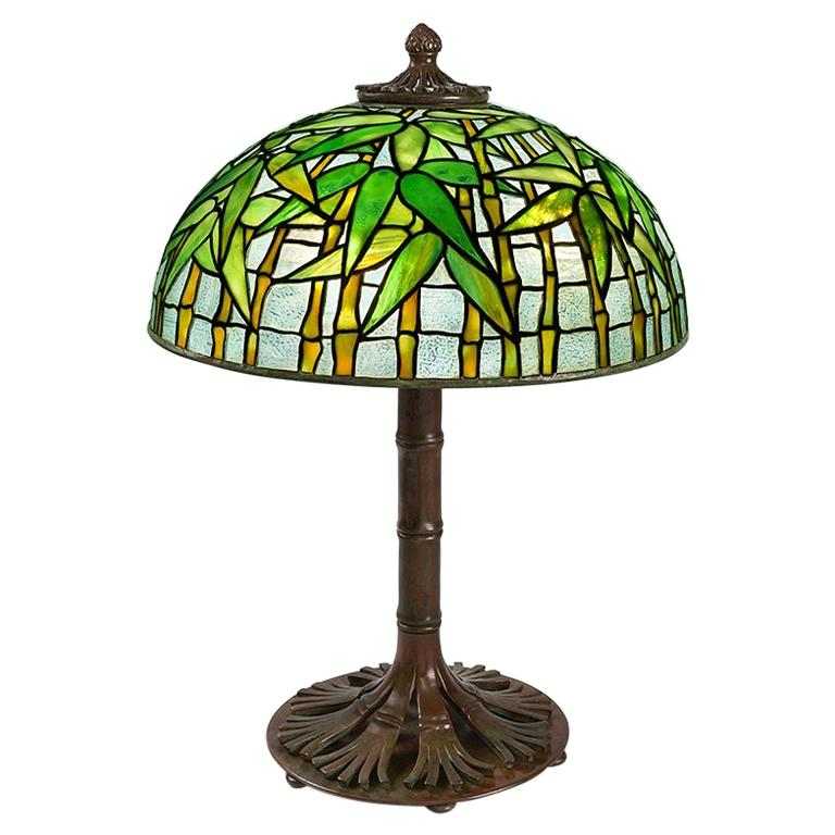"Tiffany Studios New York ""Bamboo"" Table Lamp For Sale"