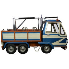 1980s Metal Carousel Tow Truck by L' Autopède Belgium