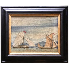 19th Century Sailor's Folk Art Woolie, circa 1880