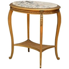Attractive French Gilt Occasional Table