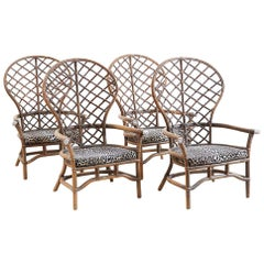 Set of Four Peacock Chairs by Ficks Reed