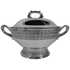 Antique Tiffany & Co. Stylish Sterling Silver Soup Tureen