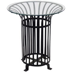 French Side or Occasional Tables of Iron with Glass Tops, 'Priced Individually'