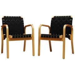 Pair of Model 45 Armchairs by Alvar Aalto for Artek
