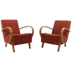 Set of Two Armchair by Jindřich Halabala, 1956s