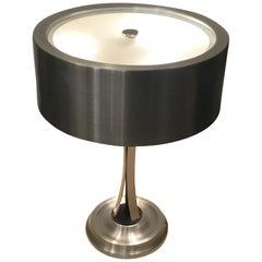 Oscar Torlasco Table Lamp Brass Chrome Metal Pivoting Paralun, 1950