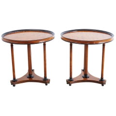 Pair of Biedermeier Style Round Centre Tables