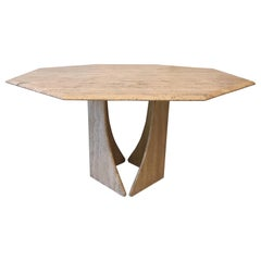 Octogonal Travertine Dining Table