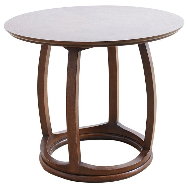 Round Mahogany Side Table or Tabouret