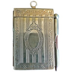 19th Century British Ladies Brass Pocket Notebook