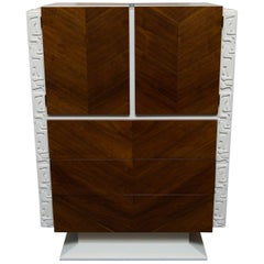 Lacquered Brutalist Tall Dresser by United Furniture