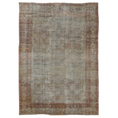 Antique Persian Sultanabad Rug with Subdued All-Over Design