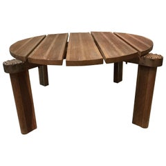 French 1950s Jacques Adnet Coffee Table