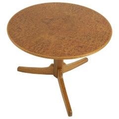 Mahogany and Ambiona Burl Table by Josef Frank