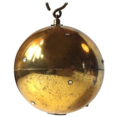 Vintage Mechanical Pull-up Christmas Ball by Reuge, Switzerland, 1960s