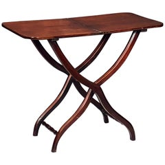 English Coaching Table with Serpentine Legs of Mahogany