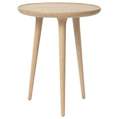 Accent Table M FSC certified Oak Wood White Matte Lacquer by Mater Design