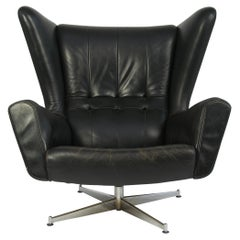 Sven Skipper Leather Lounge Chair and Ottoman