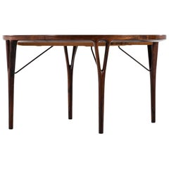 Helge Vestergaard-Jensen Dining Table by Peder Pedersen in Denmark