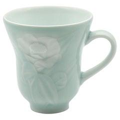 Contemporary Porcelain Mug Blue White by Porcelain Artist