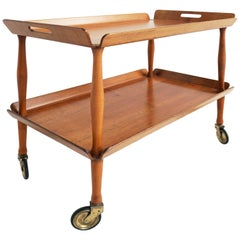 Italian Servin Table with Double Trays