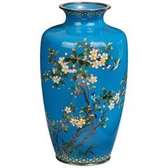 Meiji Period Cloisonné Vase by Hayashi Kodenji
