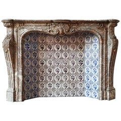 Exceptional Antique Fireplace Louis XV Style