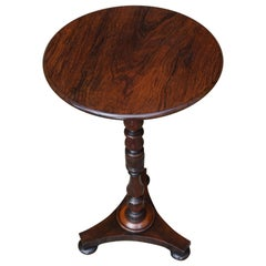 Stunning Early 1800s Georgian Tripod Wine Table / End Table with Amazing Patina