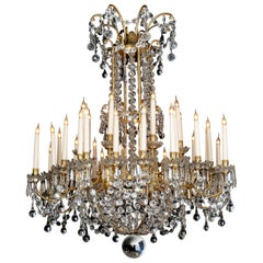Louis XVI Style Cut-Glass Thirty-two-light Chandelier, circa 1890