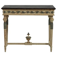 1820s Important Freestanding Console Table, in Original Paint