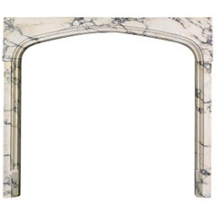Set of Victorian Pavonazza Marble Fireplace Ingrounds