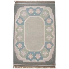 Flat-Weave Rölakan Carpet by Anna Johanna Ångström for Axeco, 1960s