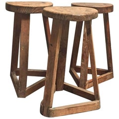 Primitive 19th Century French Stool
