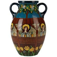 Frederick Rhead Foley Intarsio Art Pottery Vase, circa 1899