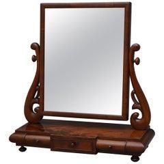 Stylish William IV Dressing Mirror in Mahogany