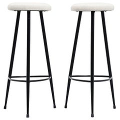Italian Pair of Modernist Bar Stools, Italy, 1950