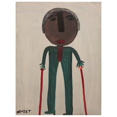 Self Portrait by Folk Artist, Mose Tolliver